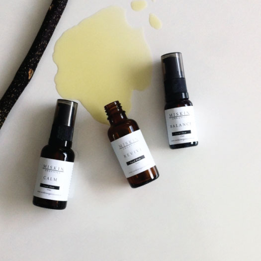 3 bottles of organic face oil skin care